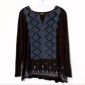 Lucky Brand Embroidered Blouse (A5)